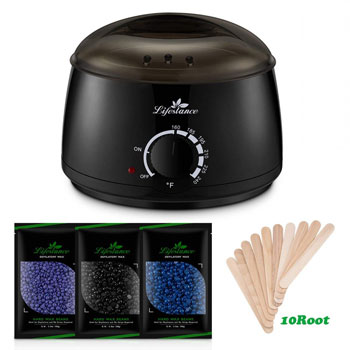 Lifestance Wax Warmer Hair Removal Kit